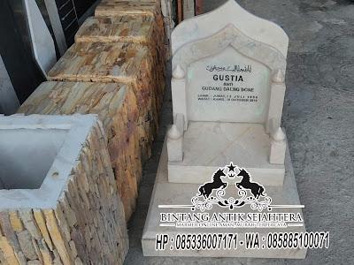 Batu Nisan Marmer Malang, Nisan Batu Marmer, Contoh Batu Nisan Marmer