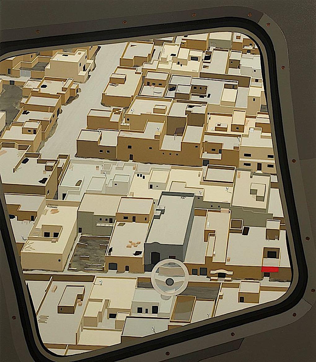 Daniel Rich digital art, view from an air travel window
