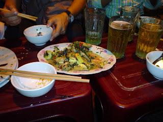 Serpent le tofu. Vietnamienne plat exotique