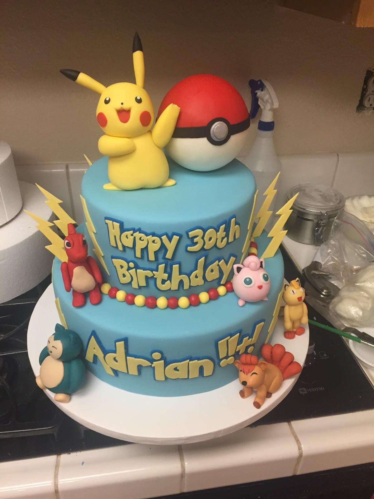 The Pokemon Pikachu Cake