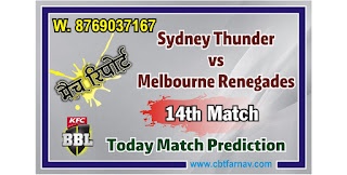 MLR vs SYT Dream11 Match Prediction | Match 14th | Big Bash League