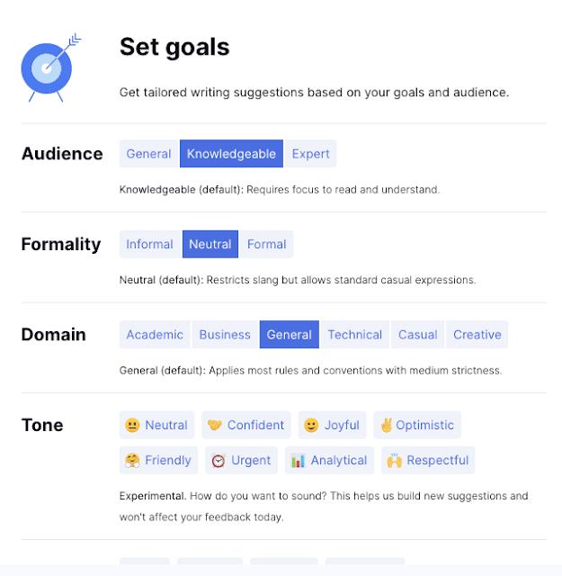 Goal Grammarly