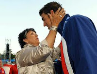 Olympian Michael Phelps and Mother