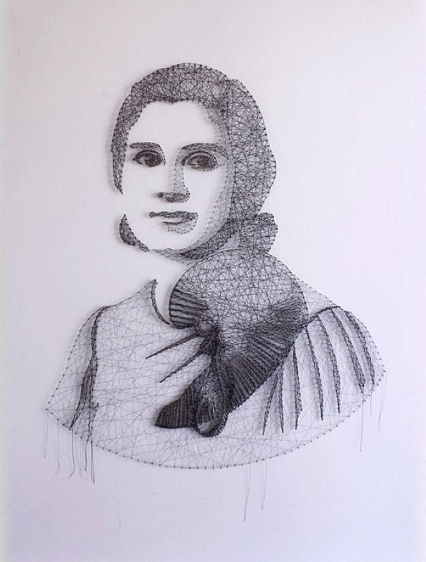 Портреты из ниток. Памела Кампаньи (Pamela Campagna) 9