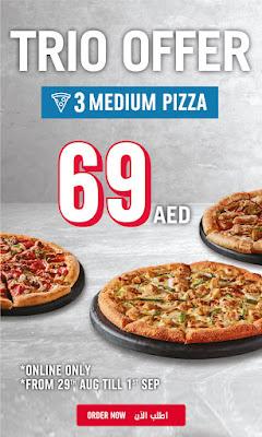 Dominos UAE Trio offer - AED 69