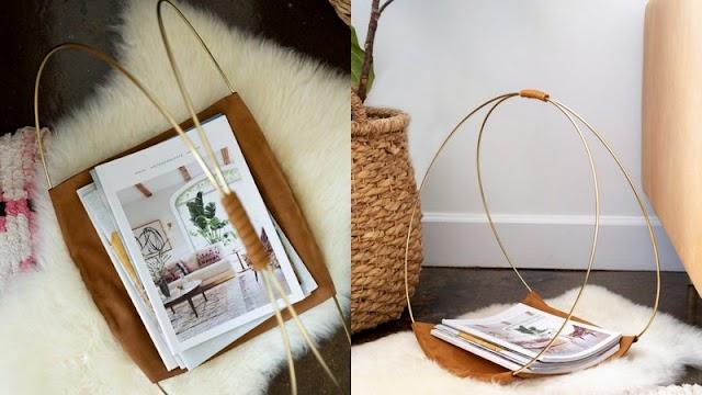 DIY Δερμάτινη Θήκη για Περιοδικά