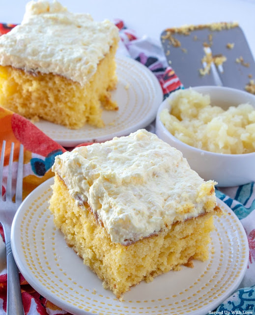 Pineapple Sunshine Cake recipe from Served Up With Love