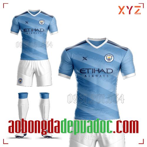 Áo CLB Man City Tự Thiết Kế Mã MC-01 Đẹp Và Độc