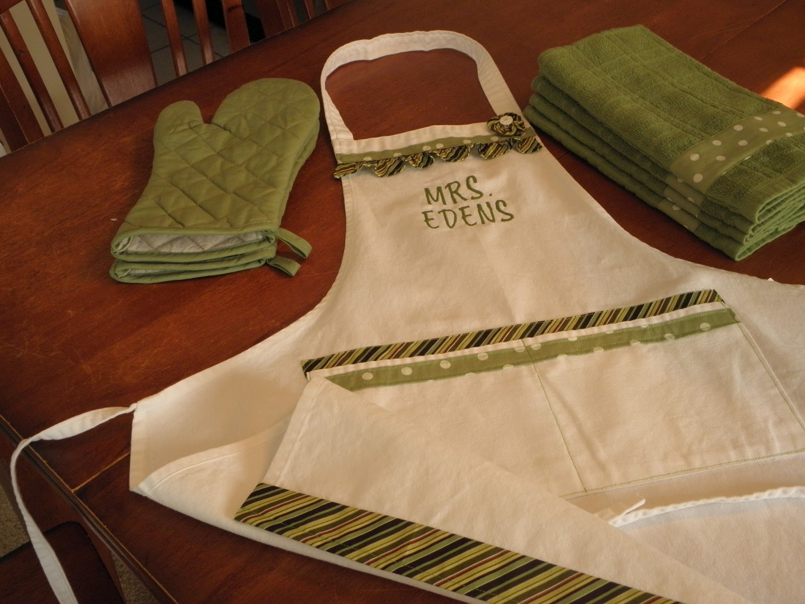 Sew Fun For Us Embroidered Wedding Gift