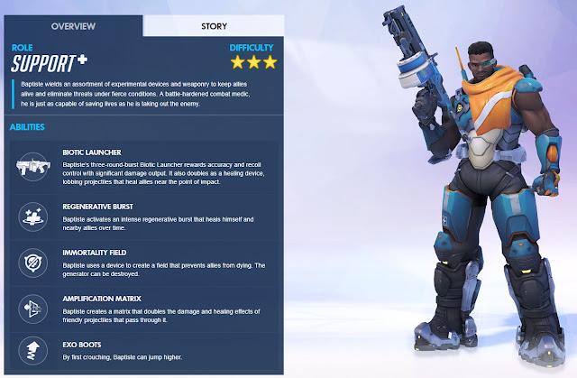 مزايا وقدرات البطل باتيست في لعبة أوفرواتش Overwatch
