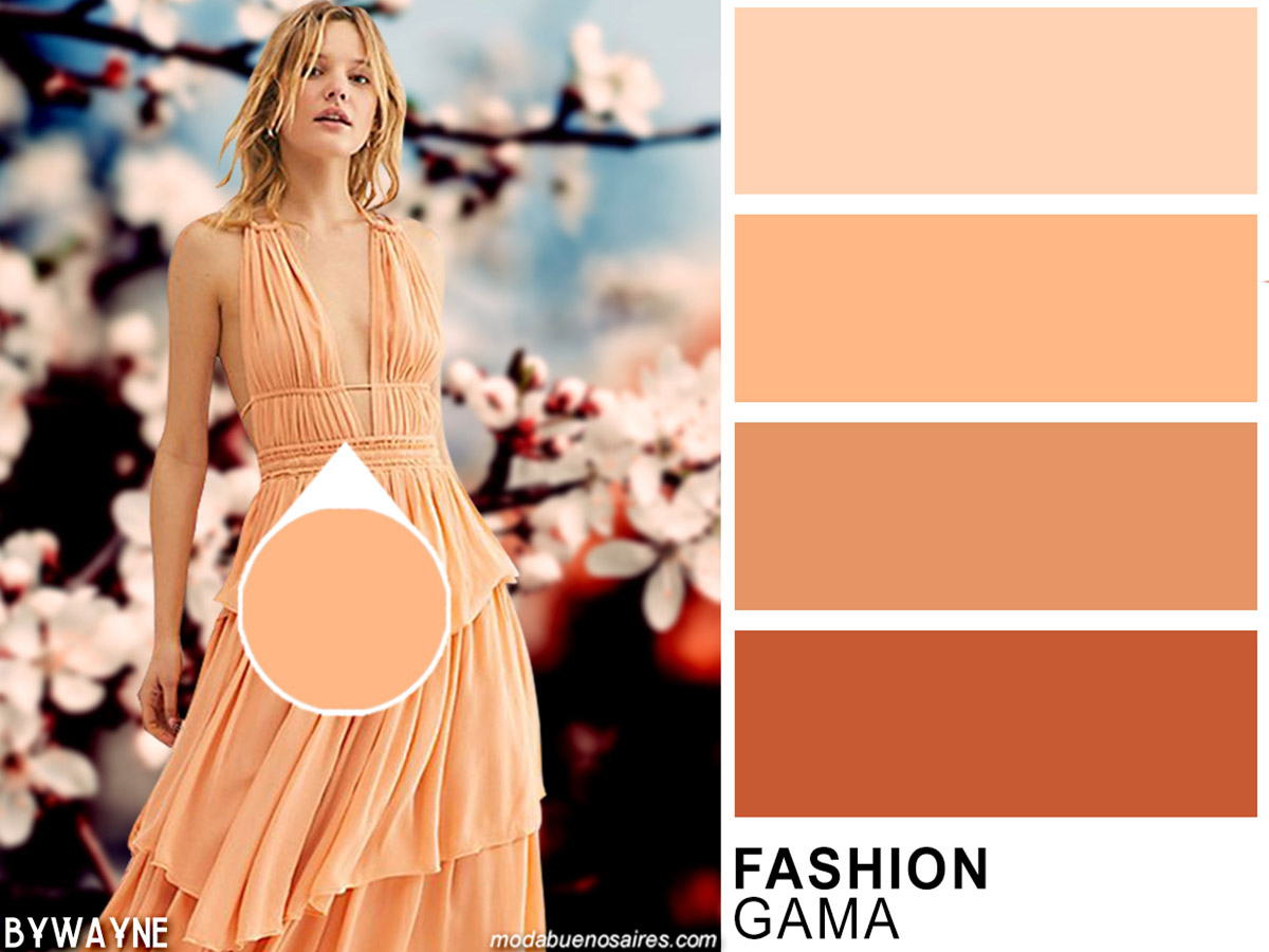 Tendencia colores de moda primavera verano 2020.
