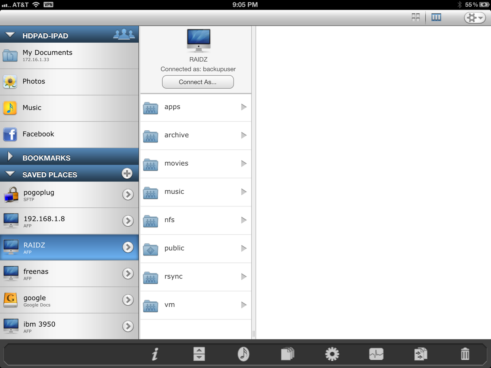 Fortysomething Geek: iPad / iPhone connect with FreeNAS (or