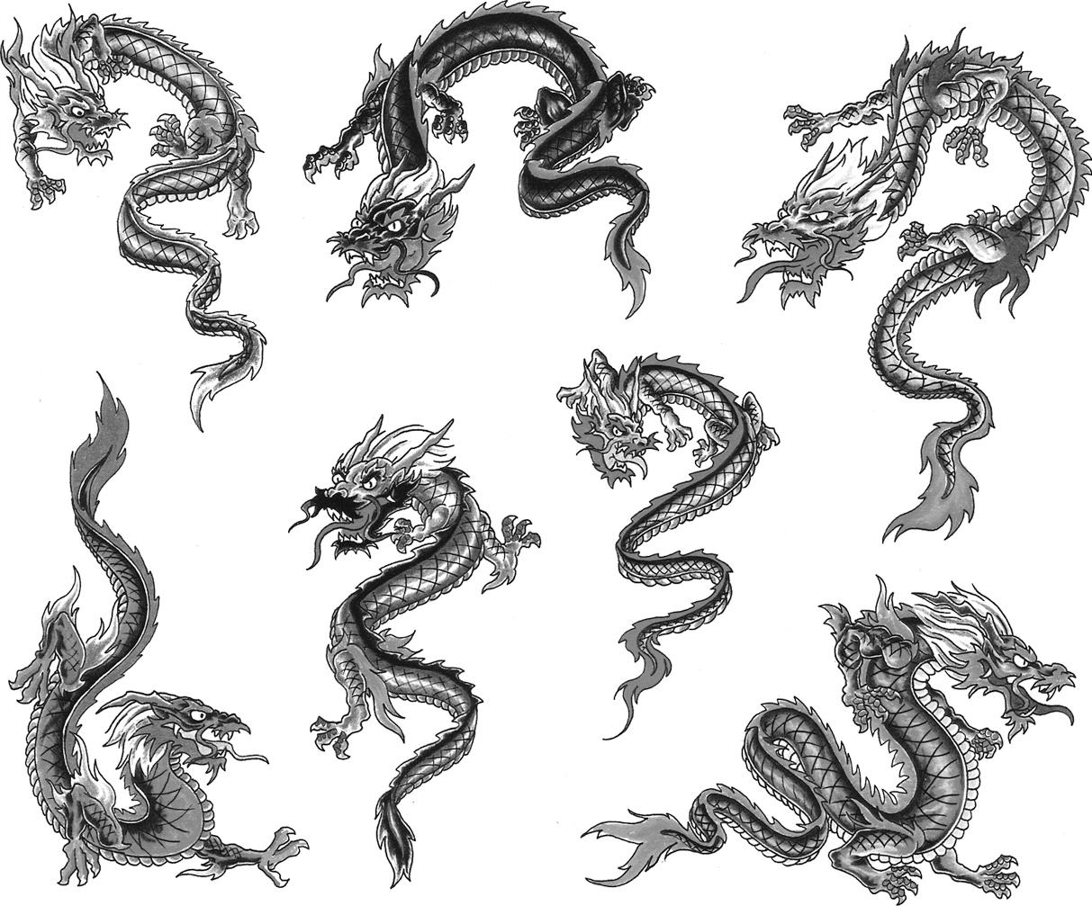 Japanese - Chinese Dragons