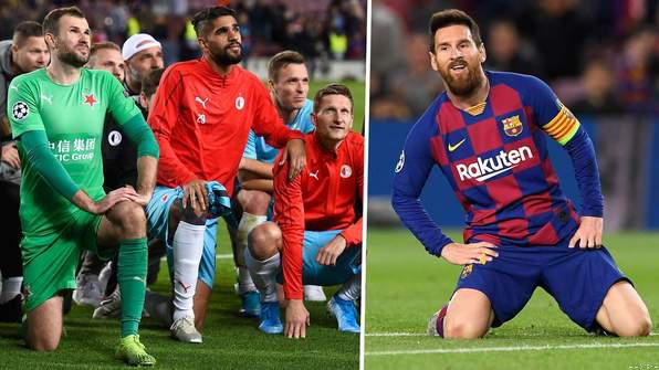 Slavia GK Slams Messi & Barca Stars for Poor Behaviour