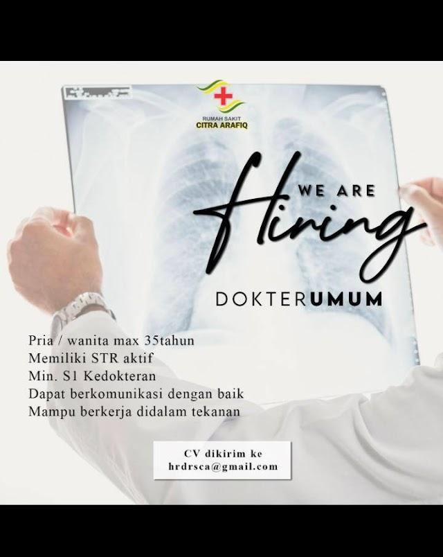 Loker Dokter Umum RS Citra Arafiq- Depok, Jawa Barat