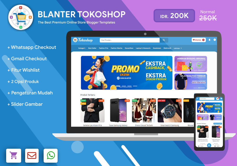 (Link added) Blanter Tokoshop Blogger Template [ Without license ] Free