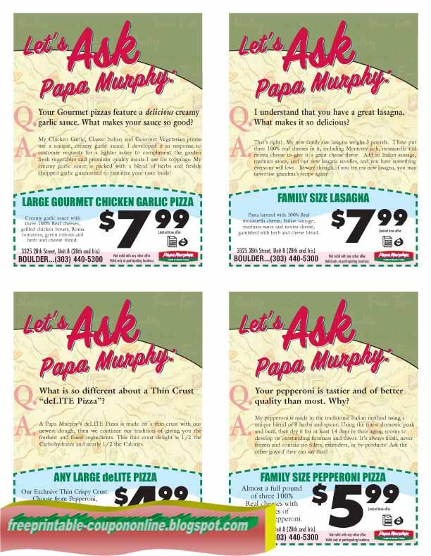 Papa murphys coupons code 2019