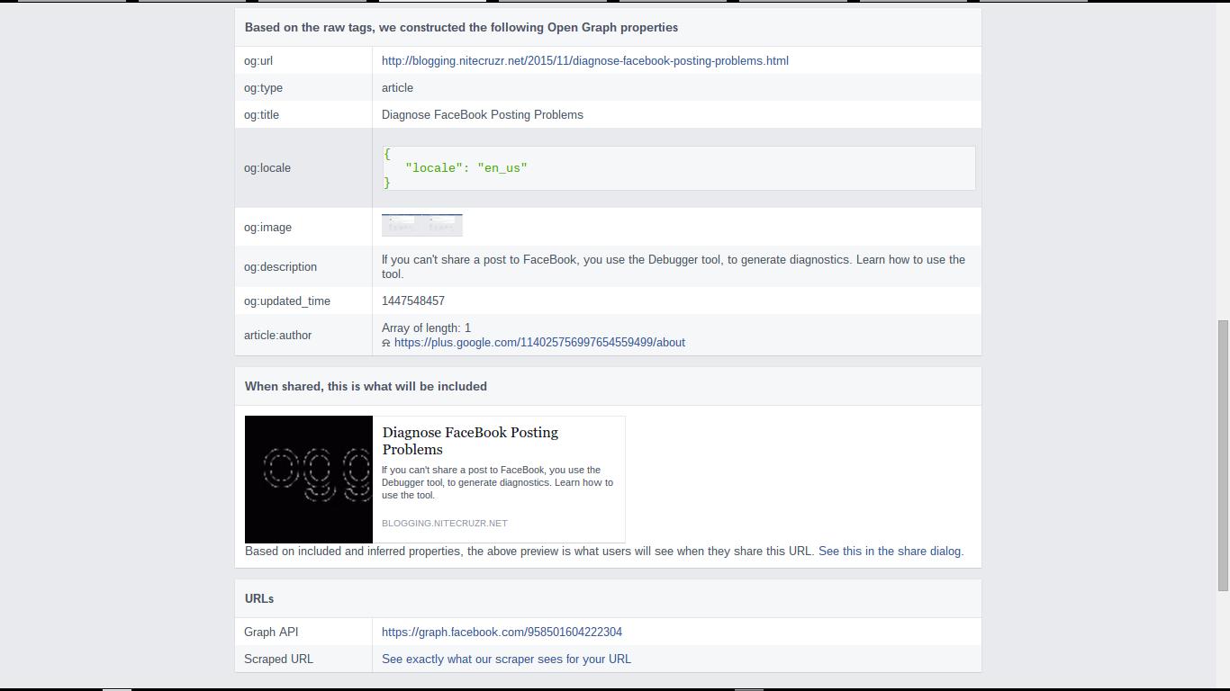 Diagnose FaceBook Posting Problems
