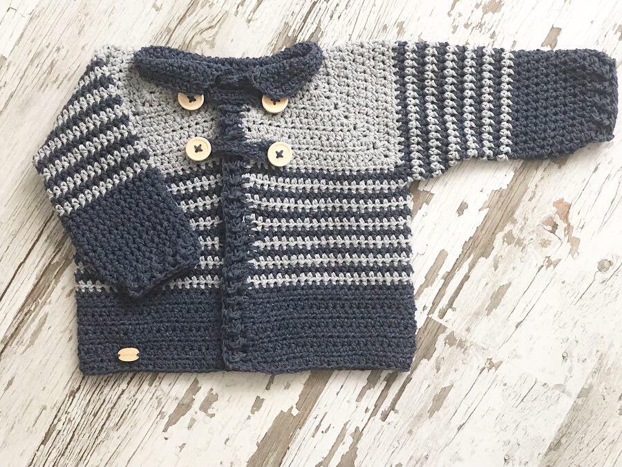 Patrón Chaqueta Bebé a Crochet   S L O A N E S T R E E T