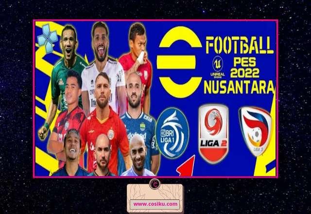PES Nusantara 2022 Bri Liga 1 & Liga 2 Indonesia PPSSPP New Update