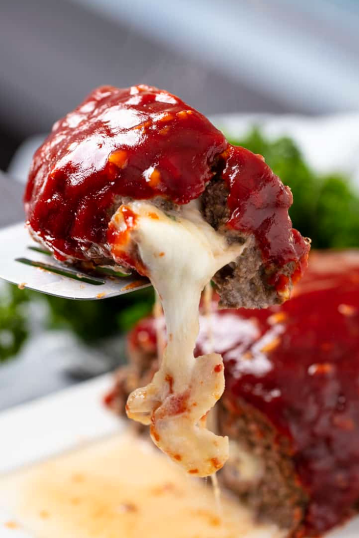 Mozzarella Stuffed Meatloaf Recipe