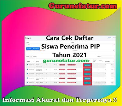 Cara Cek Daftar Siswa Penerima PIP Tahun 2021