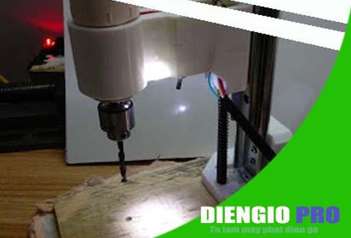 Tự chế khoan bàn mini (khoan mạch in-PCB, nhôm, gỗ, nhựa, đồng…)