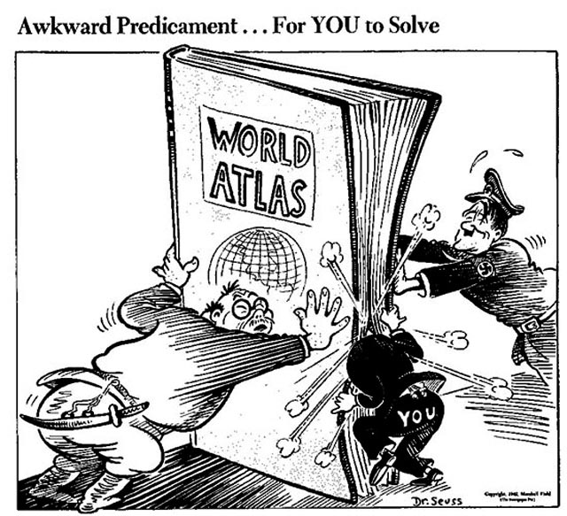 Dr. Seuss cartoon on 16 March 1942 worldwartwo.filminspector.com