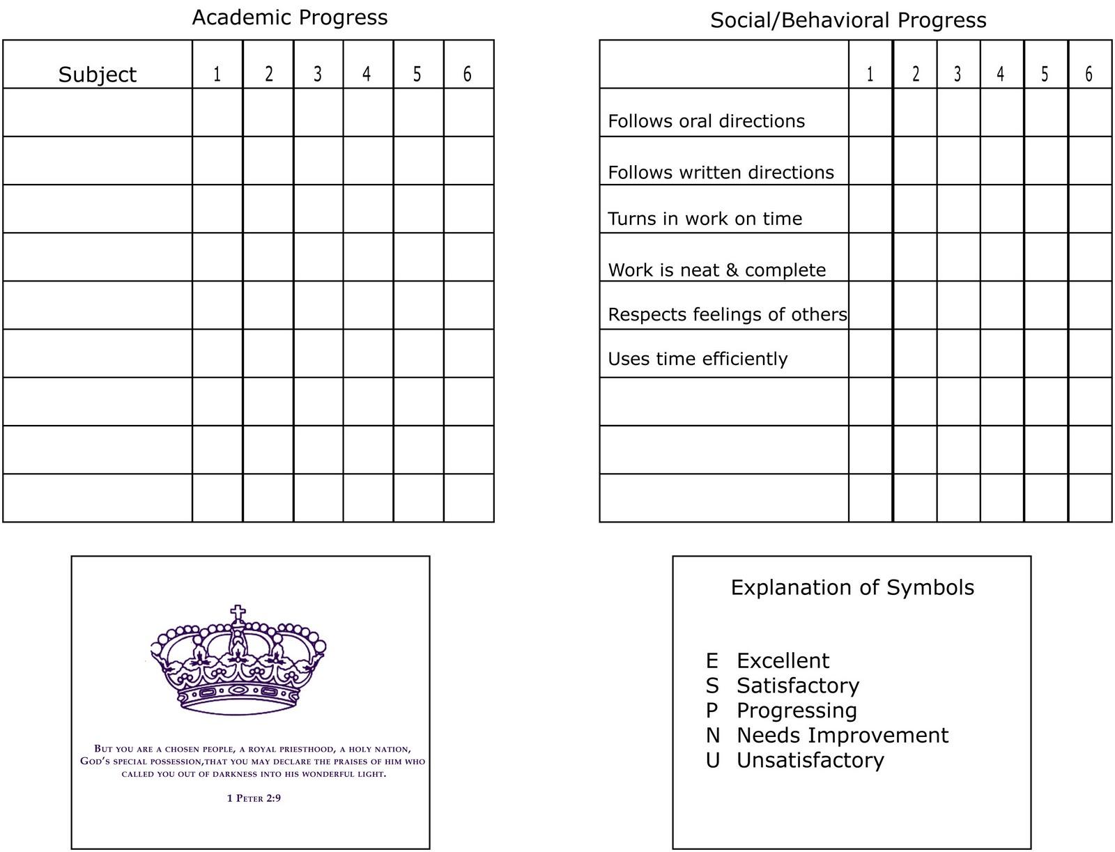 Homeschool Report Card Photos