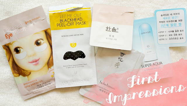 First Impressions Korean beauty samples & masks