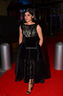 Niveda Thomas Black Sleeveless Cute Dress at 64th Jio Filmfare Awards South 2017 ~  Exclusive 047.JPG