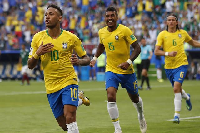 Willian ressurge, Neymar deslancha e o Brasil despacha o México da copa