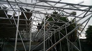 Proyek pasang baja ringan PT. Pundarika atma semesta bogor