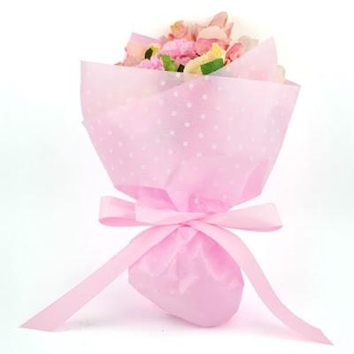 Kertas Buket Bunga / Flower Bouquet Wrapping Paper (Seri LL Polkadot)
