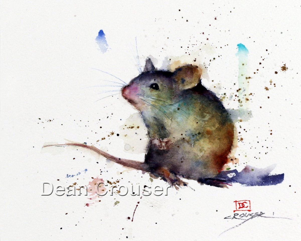 08-Mouse-Dean-Crouser-A-Love-of-the-Outdoors-Spawns-Animal-Watercolor-Paintings-www-designstack-co