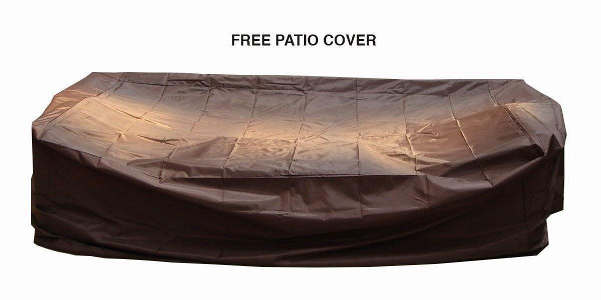 Genuine Ohana Outdoor Patio Wicker Furniture Sofa Set