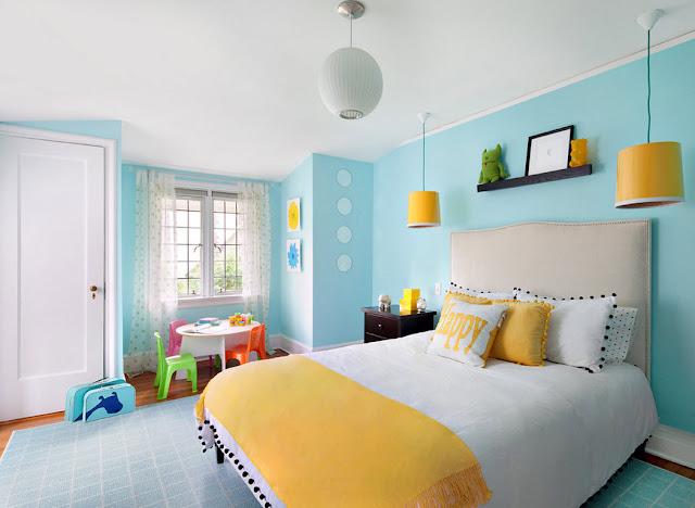 كيف اختيار الوان الحائط العصرية في غرفة النوم