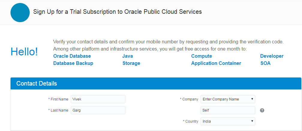 SOA Cloud Service Registartion