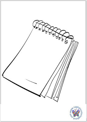 Notepad coloring page download free