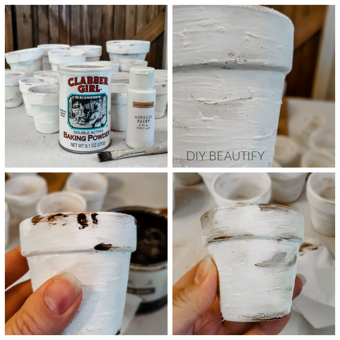 aging clay flower pots