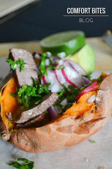 Steak loaded sweet potatoes - AIP, paleo, primal, gluten free, dairyfree