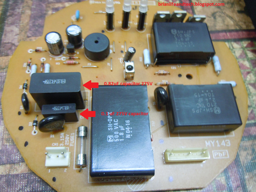 medium resolution of figure 2 electrical board in panasonic fan f my 143