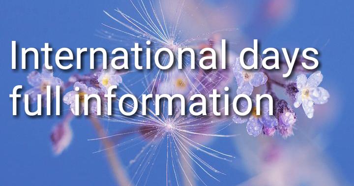 International   days की सीक्रेट जानकारी हिंदी में  - शब्द (shabd.in)