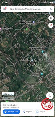2. Jika sudah menentukan tempat yang ingin di tandai, silakan tahan lama pada lokasi tesebut. Untuk yang akan saya contohkan, saya akan menandai lokasi Candi Borobudur