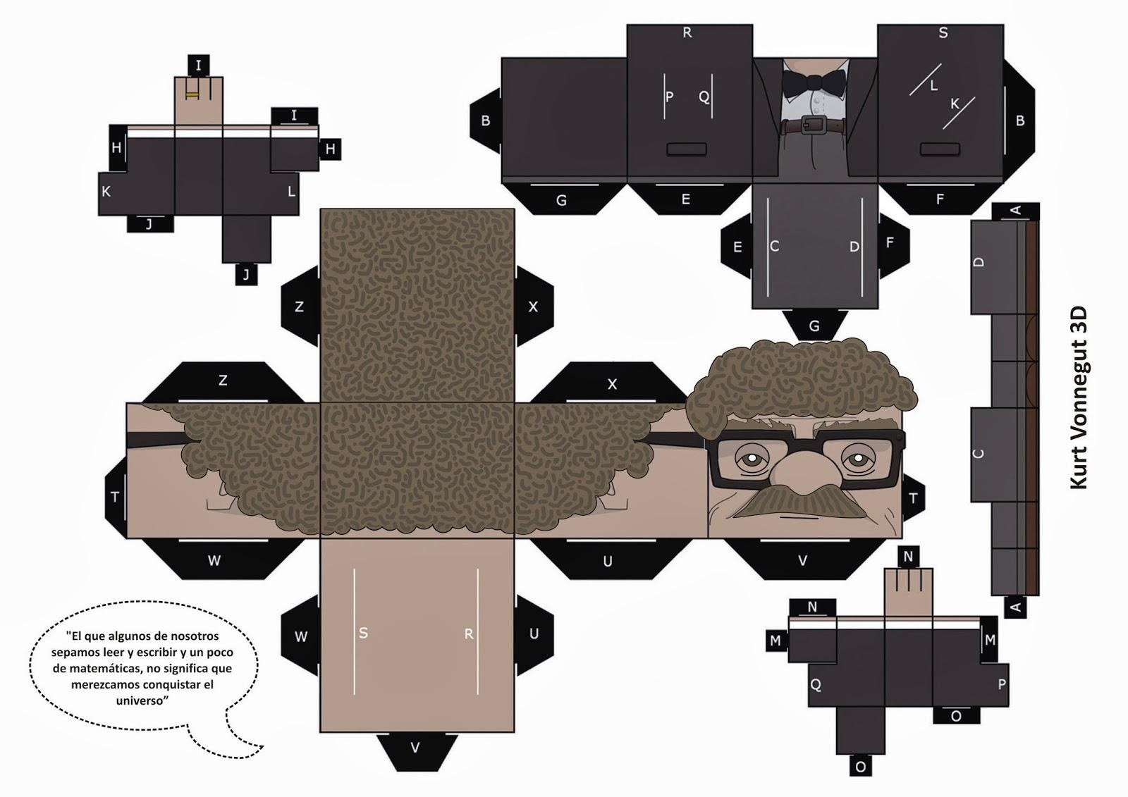 Kurt Vonnegut 3D