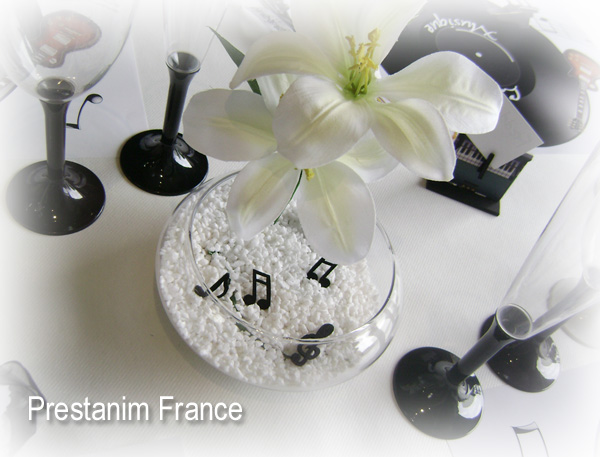 ma d coration de mariage table anniversaire th me musique et instruments. Black Bedroom Furniture Sets. Home Design Ideas