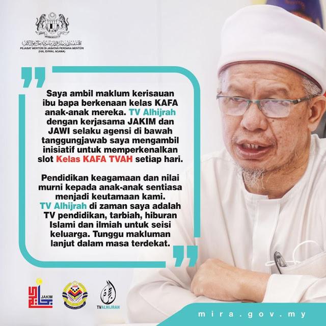 Demi pendidikan KAFA anak-anak generasi masa depan kita, kami mulakan insiatif TV Pendidikan di TVAlhijrah. Dari Perlis sampai ke Sabah, jom tonton TV Alhijrah! Mak, ayah, atuk dan nenek pun boleh tumpang belajar.