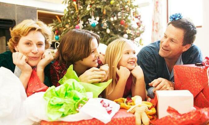 familia-feliz en Navidad