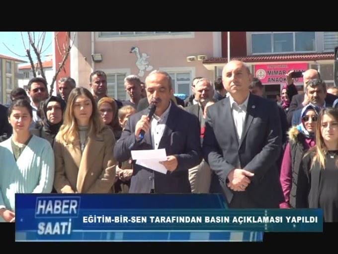 Eğitimciler Birliği Sendikası (Eğitim-Bir-Sen) Tokat Şube Başkanlığı tarafından bir basın açıklaması yapıldı.