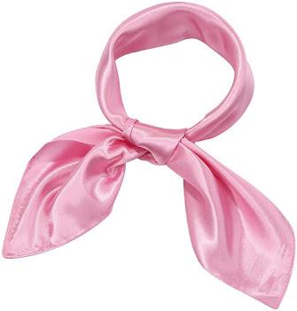 Good Quality Plain Shiny Pink Satin Scarves